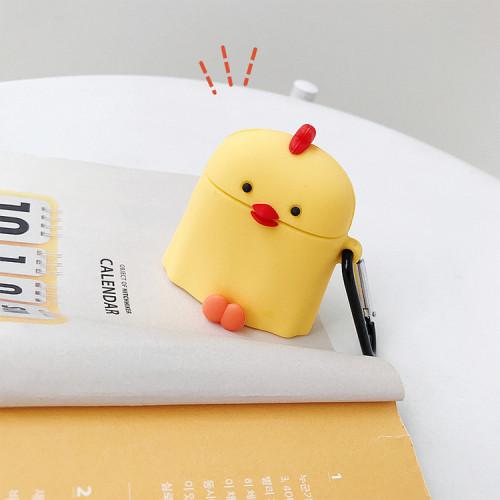 노란 병아리 에어팟 케이스 만화 실리콘 충격 방지 애플 헤드폰 보호 커버