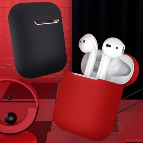 새로운 액체 실리콘 에어팟 케이스 가벼운  창의적인 부드러운 애플 헤드폰 커버