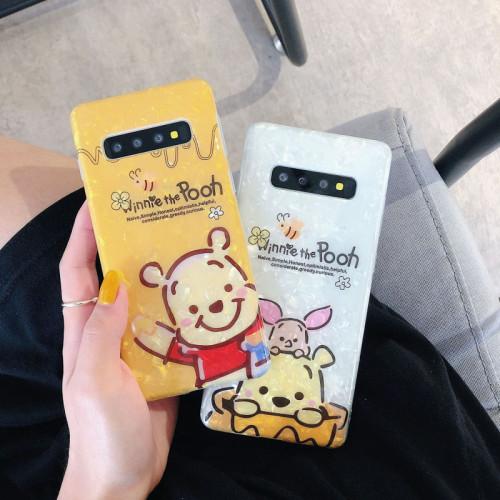 곰돌이 푸 삼성 케이스  충격방지 디즈니 만화 휴대폰 실리콘 보호 커버
