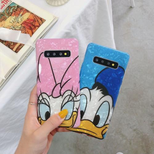 디즈니 도널드 삼성 폰 전화 케이스 만화 휴대 전화 낙하방지 실리콘 보호 커버