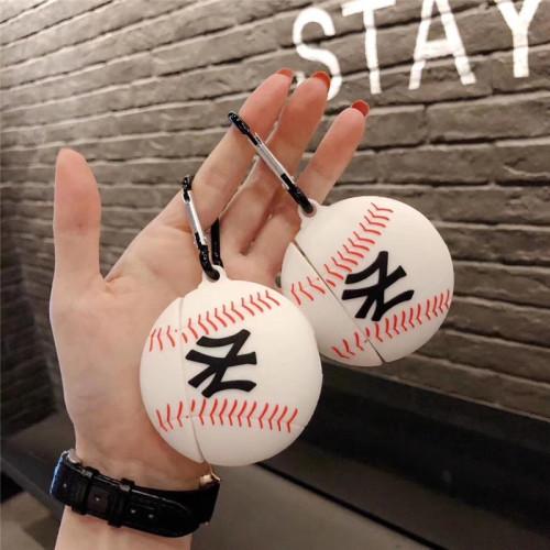 MLB 야구 에어팟 케이스 3D 입체 실리콘 애플 무선 헤드폰 보호 커버