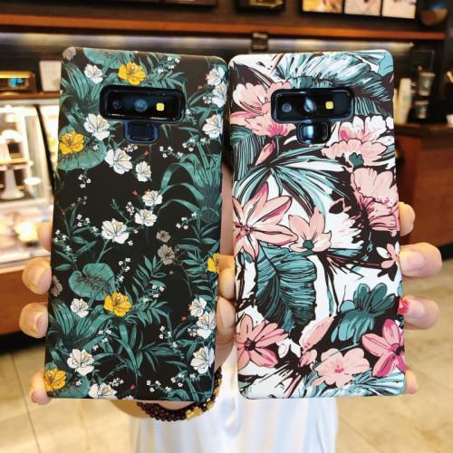 예술 스타일 삼성 케이스 꽃 빛나는 엠보싱 삼성 핸드폰 보호 커버