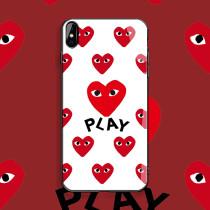 CDG PLAY 아이폰 케이스 실리콘 매트 애플 전화 패션 충격 방지 보호 커버