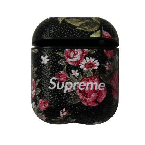 슈프림 에어팟 케이스 패션 꽃 애플무선 헤드폰 충격 방지 보호 커버