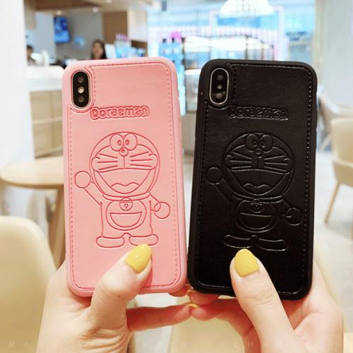 도라에몽 아이폰 케이스 만화 가죽 애플 휴대 전화 충격 방지 보호 커버