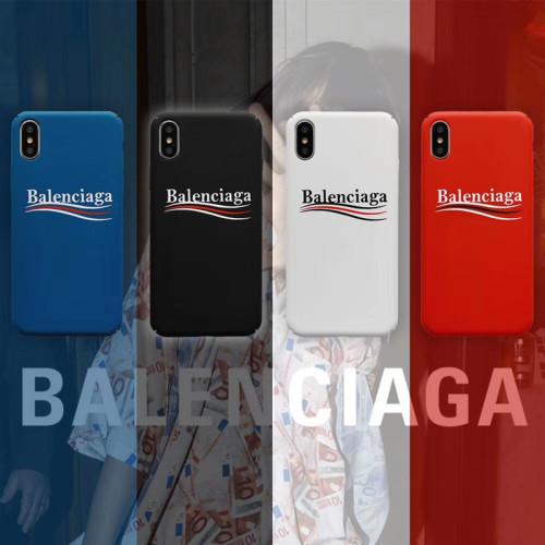 발렌시아가 아이폰 케이스  고급 패션 애플 휴대 전화iPhone 11 충격 방지 보호 커버