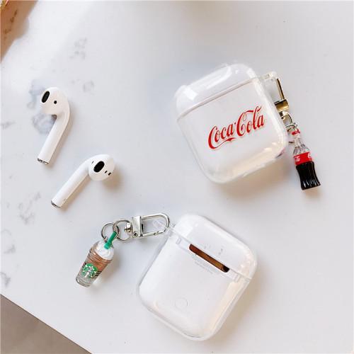 패션 에어팟 케이스 스타박스 투명 애플 무선 헤드폰 보호 커버