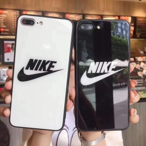 나이키 스포츠 스타일 아이폰 케이스 강화 유리 광택 스트라이프 디자이너 iPhone 11커버