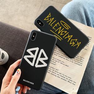 발렌시아가 아이폰 케이스 패션  럭셔리 실리콘 애플 휴대폰 iPhone 11충격 방지 커버