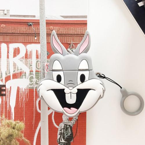 3D 버그 토끼 에어팟 케이스 실리콘 애플 충전기 상자 무선 이어폰 커버