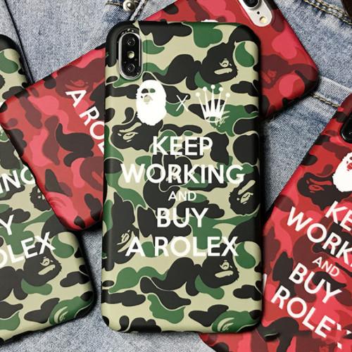 BAPE 아이폰 케이스 위장 인기 브랜드 애플 핸드폰iPhone 11 충격방지 보호 커버