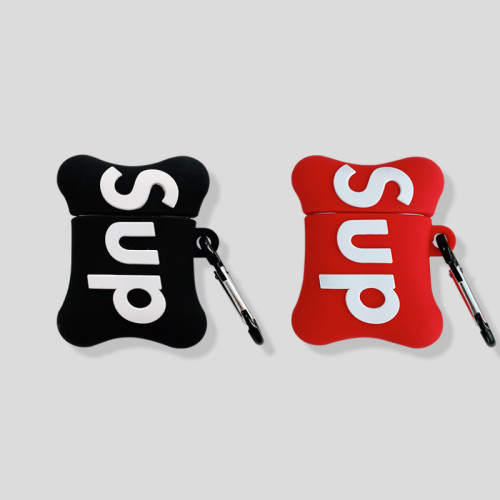 슈프림 에어팟 케이스 패션 브랜드 실리콘 애플 무선 헤드폰 보호 커버