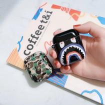Bape 스타일 에어팟 케이스 카모 광택 하드 보호 충격 방지 커버