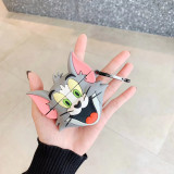 3D Tom과 Jerry AirPods 케이스 Apple Anti-Drops 헤드폰 보호 커버