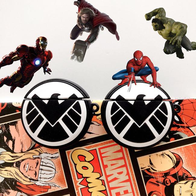 Marvel SHIELD Airpods 케이스 실리콘 애플 Airpod1 / 2 헤드폰 적용