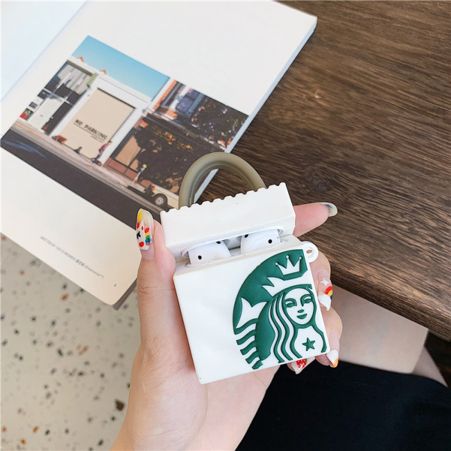 스타 벅스 Airpods 케이스 크리에이티브 핸드백 작은 휴대용 Airpod 보호 커버