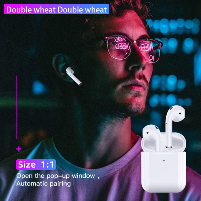 Airpods 1:1  iphone / Android 적용, 소매 포장 박스 (흰색 버전)