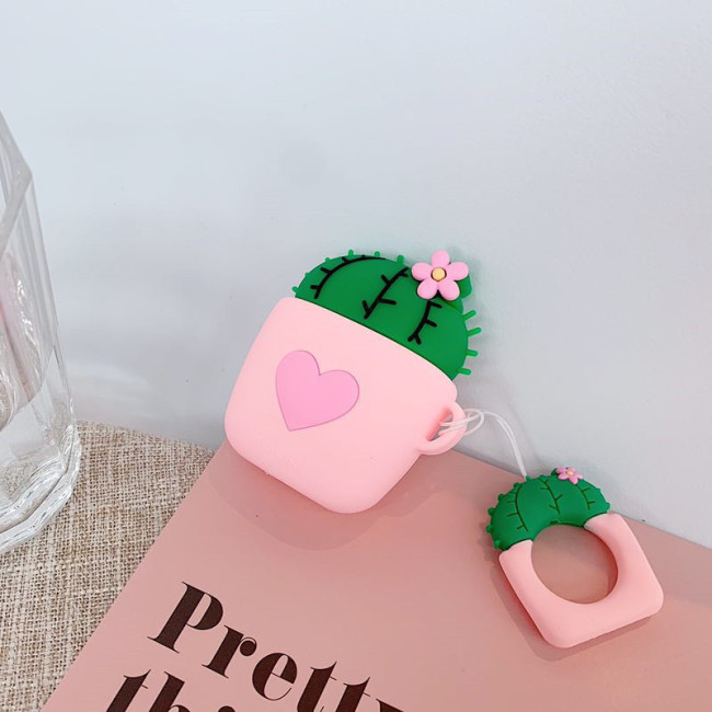 귀여운 에어팟 케이스 만화 실리콘 애플 무선 헤드폰 충격 방지 보호 커버