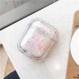 퀵 샌드 애플 에어팟 케이스 간단한 패션 애플 무선 헤드폰 보호 커버