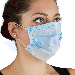 50 Pcs Blue Disposable Face Mask Earloop Mouth Cover Anti Dust Face Mouth Masks Respirator Medical