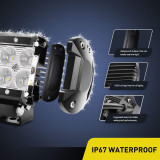 18W 1260lm Driving Fog Light Off Road Led Lights Bar Mounting Bracket for SUV Boat 4  Jeep Lamp,2 years Warranty