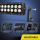 42Inch 240W Curved Combo Led Off Road Lights Super Bright Driving Light Boat Lights Driving Lights LED Work Light,2 Years Warranty
