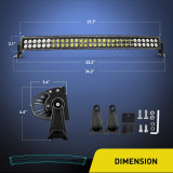 32Inch 180W Combo High Power LED Driving Lamp LED Light Bar Off Road Fog Driving Work Lights for SUV Boat Jeep Lamp,2 Years Warranty