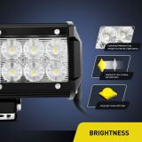 DNSN顶爽 12Inch 72W Spot Flood Combo Led Light Bar Jeep Off Road Lights Boat Lighting 2 Years Warranty