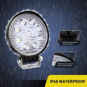 27W LED Work Light 2PCS 4.2  27w 3000LM Fog Light Off Road Lights Running Lights Boat Lights Driving Lights Led Work Light SUV Jeep Lamp,2 Years Warranty
