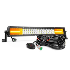 DNSN顶爽 22Inch 270W White & Amber Triple Row 13500LM  Combo Led Bar Off Road Lights for Trucks with Wiring Harness Kit,2 Years Warranty