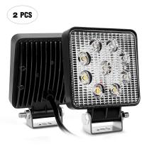27W LED Work Light 2PCS 4.2  27w 3000LM Spot Fog Light Off Road Lights Running Lights Boat Lights Driving Lights Led Work Light SUV Jeep Lamp,2 Years Warranty