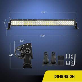32 Inch 180W  Combo LED Driving Lamp Off Road Lights LED Work Light Boat Jeep Lamp,2 Years Warranty