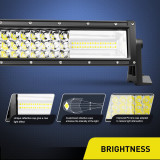 Triple Row Combo 32Inch 378W LED Light Bar Off Road LED Driving Lamp for SUV Boat Jeep
