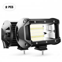 2PCS 5Inch 72W Flood Double Row Flood Led Bar 10800Lumens Driving Lights Fog Lights Led Off Road Lights for Trucks Jeep ATV UTV SUV Boat Marine,2 Years Warranty