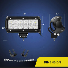 2PCS 36w 6.5Inch Flood Led Off Road Lights Super Bright Driving Fog Light Boat Lights Driving Lights Led Work Light SUV Jeep Lamp,2 Years Warranty
