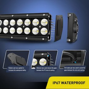 32  180W Combo High Power LED Driving Lamp LED Light Bar Off Road Fog Driving Work Lights for SUV Boat Jeep Lamp,2 Years Warranty