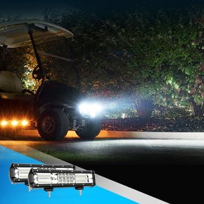 2PCS 12Inch 180W Triple Row Flood Spot Combo Beam 8000LM Super Bright Led Bar Driving Lights Boat Lights Led Off Road Lights for Trucks,2 Years Warranty