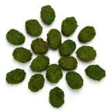Decorative Moss Eggs, Moss Balls for Home Decor (Pack of 18)