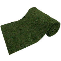 Roll of Moss Table Runner for Woodland Wedding Decor, 12  x71 Inch