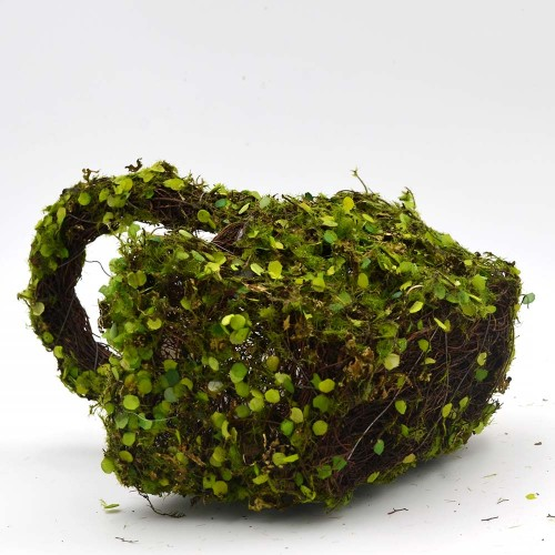 Set of 2 | Green Moss Basket for Home Decor - 12Inch Tall