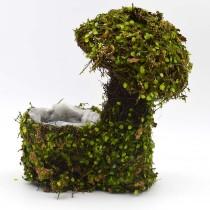 Mushroom Planter, Fake Moss Decorative Moss Planter for Garden Decor