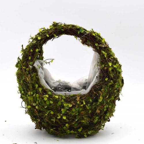 Bridal Wedding Succulent Moss Basket Arrangement