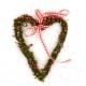 Heart Door Wreath with Pink Ribbon Decor