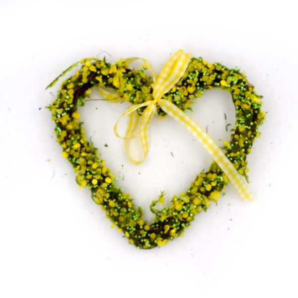 Faux Moss Flower Wreath for Floral Arrangement, Wall Hanging Decor