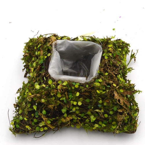 Moss Planter Basket with Liner, Square Shape for Backyard Decoration