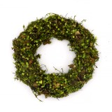 Spring Wreath for Front Door Decorations, Artificial Green Wreath for Summer Decor