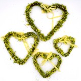 Faux Moss Flower Wreath for Floral Arrangement, Wall Hanging Decor