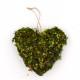 Moss Hanging Heart Ornaments, Artificial Moss Wedding Decor
