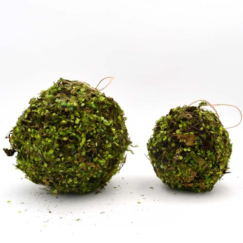 Moss Ball Hanging Ornaments, Artificial Moss Decor