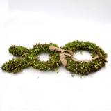 Large Moss Bunny Rabbit Wreath, Easter Springtime Twig Wreath for Country Farmhouse